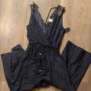 Lightweight denim romper